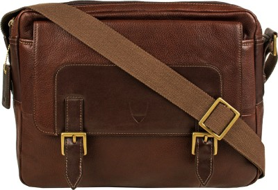 Hidesign Men Brown Genuine Leather Sling Bag