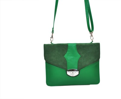 Hide Bulls Girls Green Velvet Sling Bag