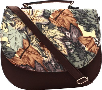 PST Girls, Women Brown PU Sling Bag