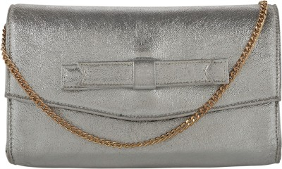 Berrypeckers Women Evening/Party Silver PU Sling Bag