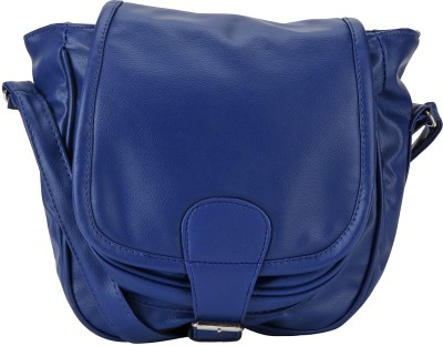 Naaz Bag Collection Women Casual Blue Leatherette Sling Bag