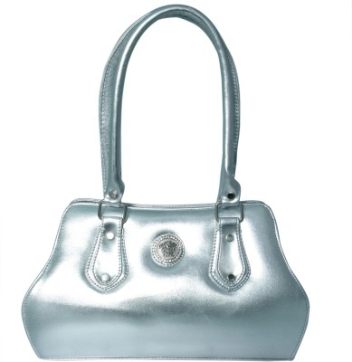 Heels And Toes Women Silver Leatherette Sling Bag