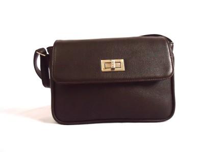 Tanritcher Girls Brown Rexine Sling Bag