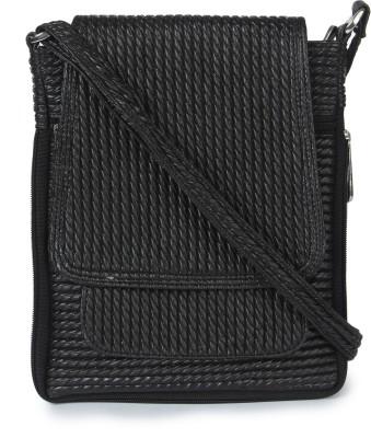 Kaartik24 Girls Casual Black Leatherette Sling Bag