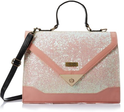 3 Mad Chicks Women Pink, White PU Sling Bag