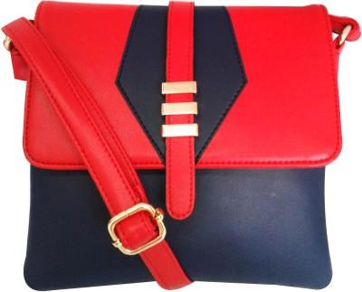 Falah Bag Works Girls Red PU Sling Bag
