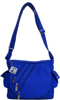Fashion Knockout Girls Blue Leatherette Sling Bag