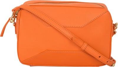 AQ Women Orange PU Sling Bag