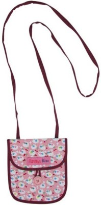 Always Kids Girls Casual, Evening/Party Pink Cotton Sling Bag