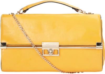 Addyz Women Yellow PU Sling Bag