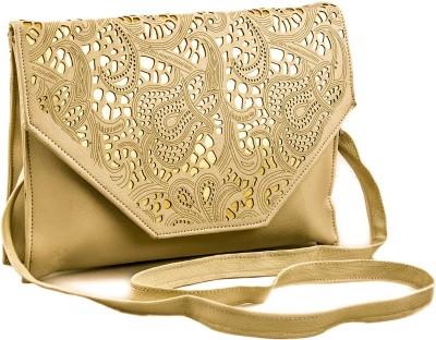 Voaka Women, Girls Khaki Leatherette Sling Bag