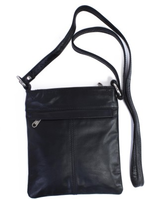 Ess Tee Women, Girls Evening/Party, Casual Black Genuine Leather Sling Bag