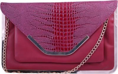 Pinkdivaas Girls Maroon Leatherette Sling Bag