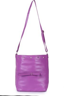 MGG Women, Girls Casual Purple PU, Cotton Sling Bag