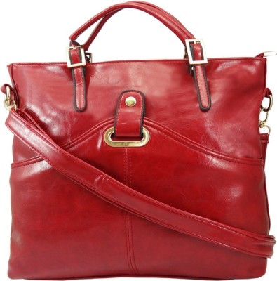 Hi Look Women Casual Red PU Sling Bag