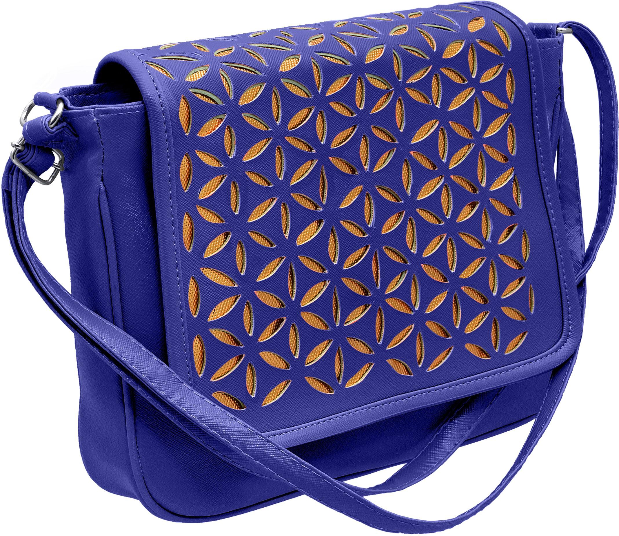 Sling bag below 500 - Tap Fashion Girls Blue Pu Sling Bag