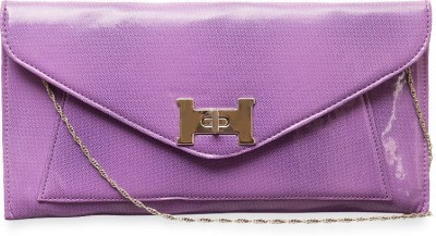 SkyWays Women Evening/Party Purple PU Sling Bag