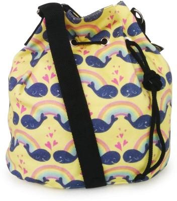 Lemon Trunk Women, Girls Casual Yellow Canvas Sling Bag