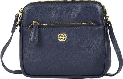 Eske Girls Blue Genuine Leather Sling Bag