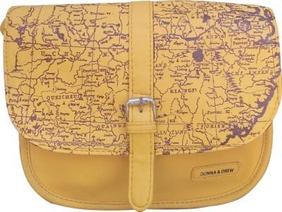 Donna & Drew Women Yellow PU Sling Bag