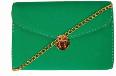 Borse Women Green PU Sling Bag