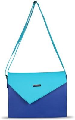 Touristor Women Blue Leatherette, PU Sling Bag
