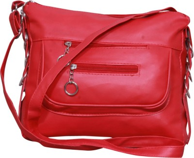 Notbad Girls Red Leatherette Sling Bag