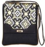 Sunbeams Women Black Silk Sling Bag