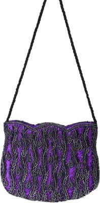 Himalaya Handicraft Women Purple Polyester Shoulder Bag