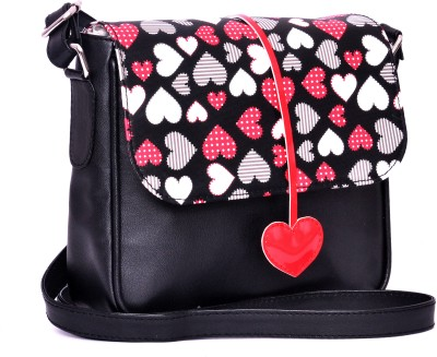 Berrypeckers Girls Casual Black PU Sling Bag