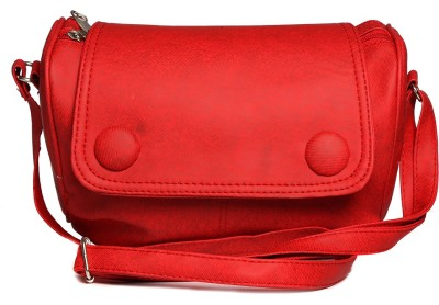 Tripssy Women, Girls Red Leatherette Sling Bag