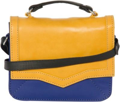 Adaira Girls Casual Yellow PU Sling Bag