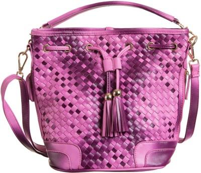 Peaubella Women, Girls Pink Leatherette Sling Bag
