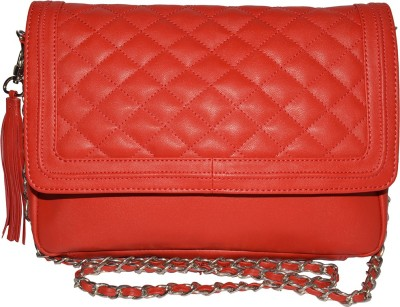 Famous by Payal Kapoor Women Red Leatherette Sling Bag