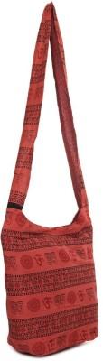 Kraftrush Women Red Cotton Sling Bag