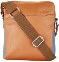 ColorPlus Men Brown Genuine Leather Sling Bag
