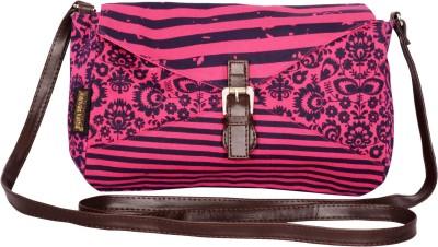 Kanvas Katha Women, Girls Pink Canvas Sling Bag