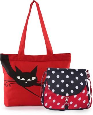 Vogue Tree Women Black Canvas Sling Bag