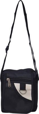 Roshiaaz Men Black Denim Sling Bag