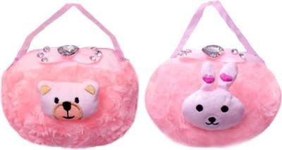 ARIP Girls Pink Velvet Sling Bag