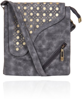 Alessia74 Women Grey PU Sling Bag