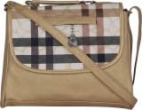 Felicita Women Gold, Beige PU Sling Bag