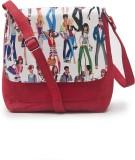 Falah Bag Works Women Red PU Sling Bag
