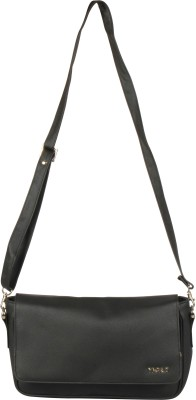 Merci Women Black PU Sling Bag