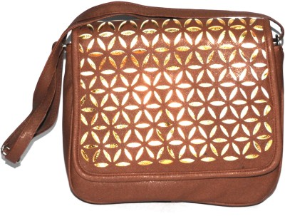 ShopperzGuide Girls, Women Brown PU Sling Bag