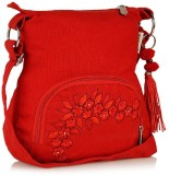 Shrih Women Red Canvas Sling Bag