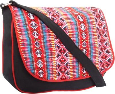 Hi Look Women Casual Brown Canvas Sling Bag