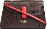 Holii Women Brown, Red Genuine Leather S...