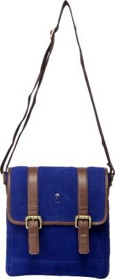 Srota Men Casual Blue PU Sling Bag