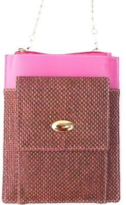 Mayursflora Women Pink, Purple Jute Sling Bag